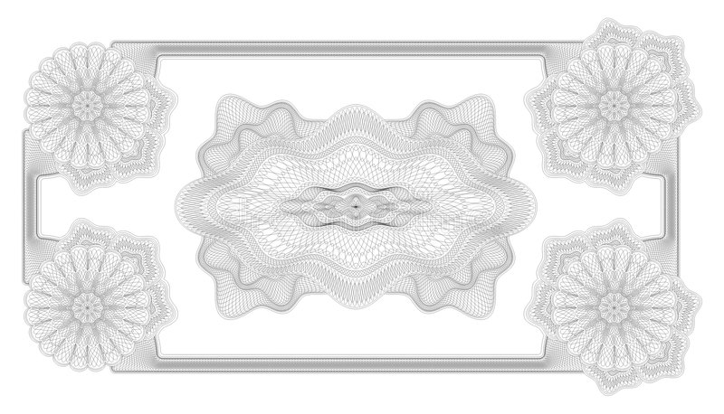 Beveilig ontwerpframe vector   royalty-vrije illustratie