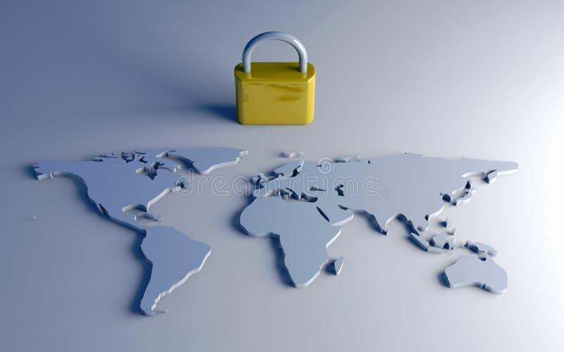 Beveilig Wereld vector illustratie