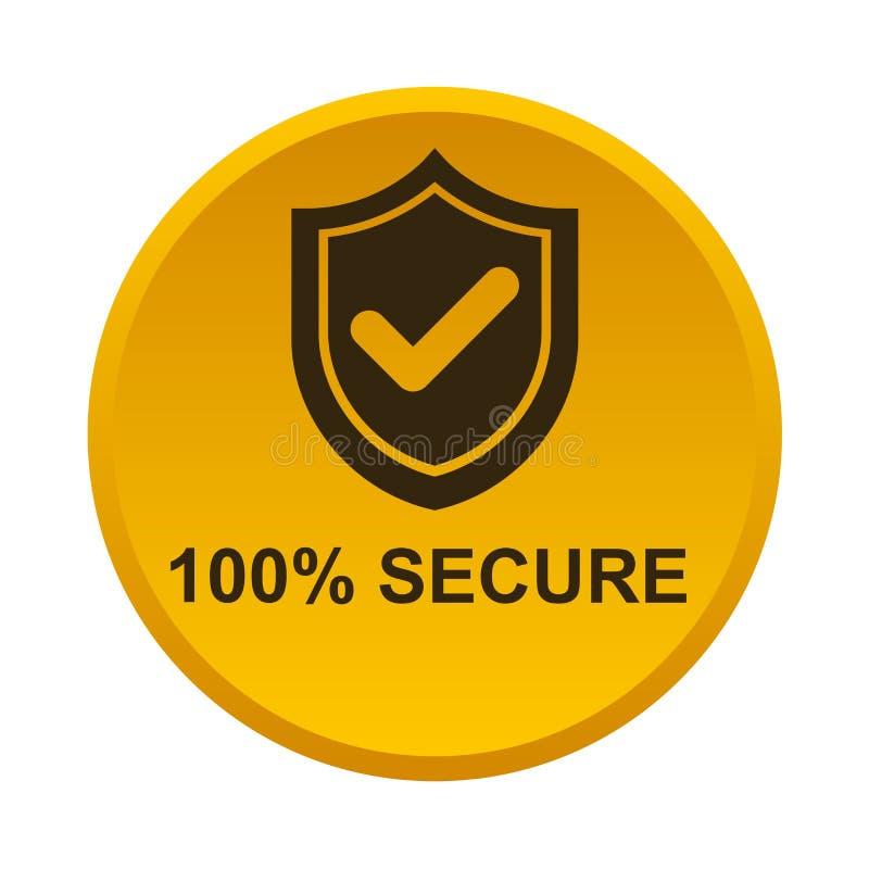 100% beveiligen knoop stock illustratie