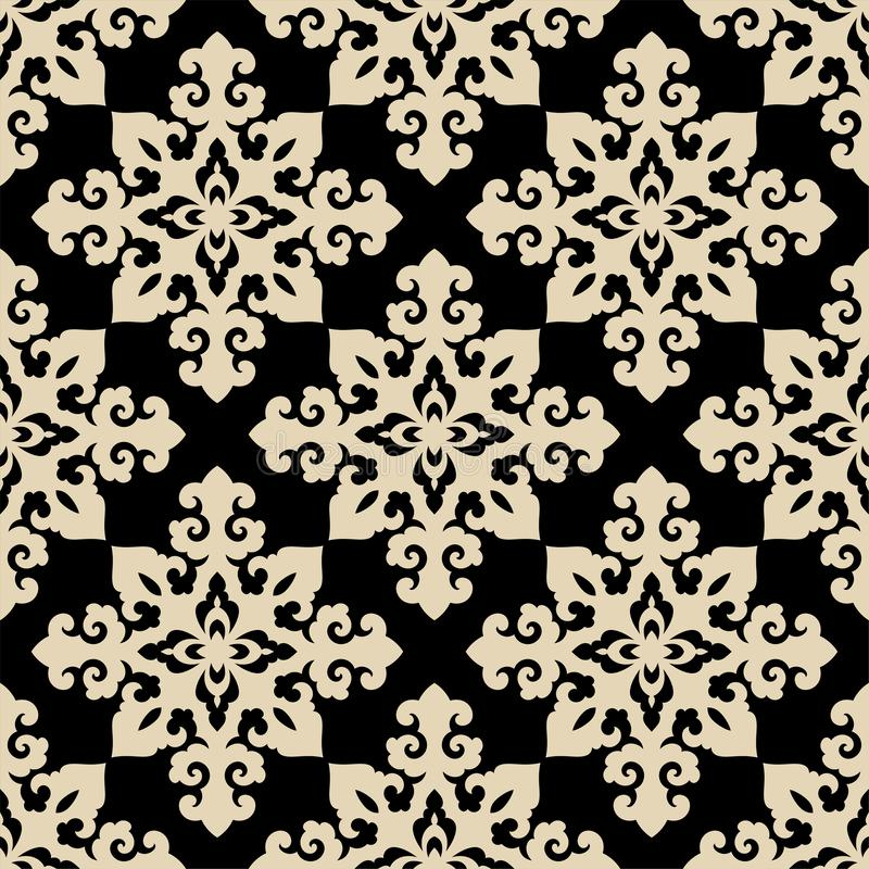 Bevekelsegrund, japan, kines eller korean för sömlös traditionell asiat dekorativ och mer Geometrisk modell med att upprepa stock illustrationer