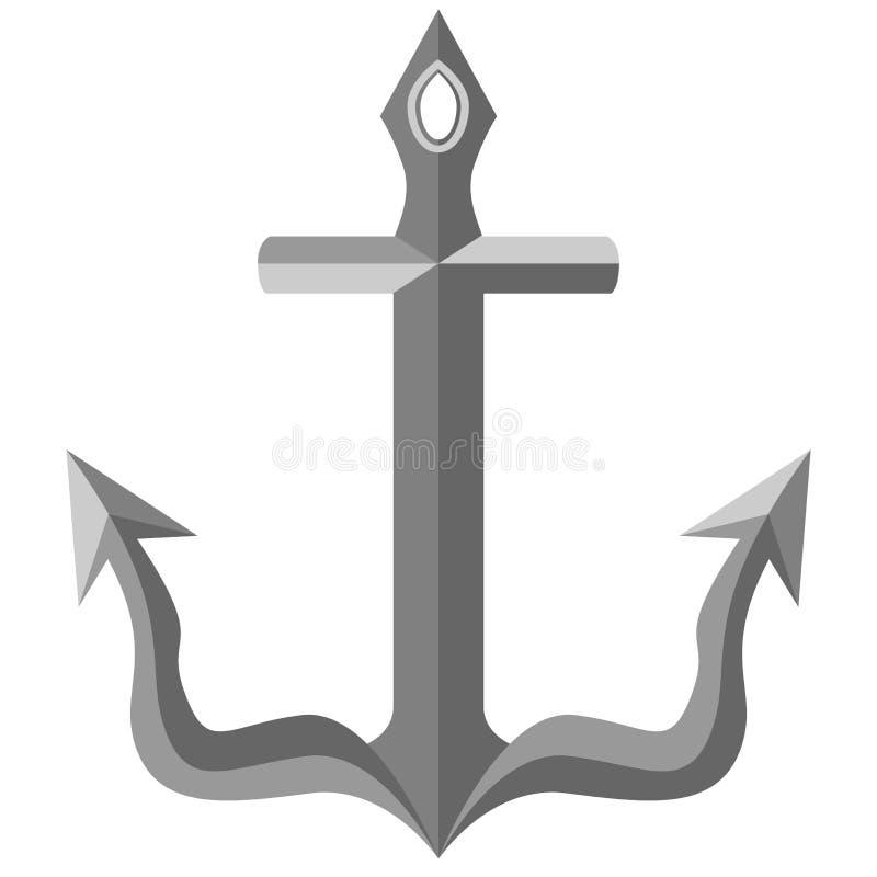 Beveled Metal Anchor Royalty Free Stock Photo