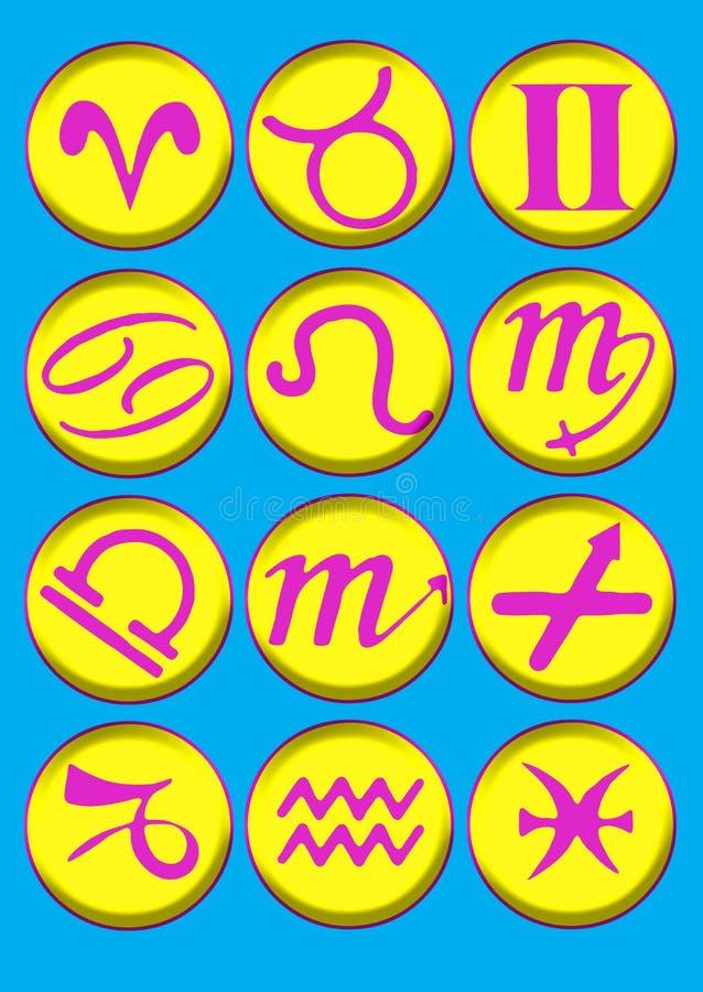 bevelen präan horoskopsymbol stock illustrationer