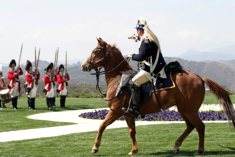 Bevelhebber en militair royalty-vrije stock afbeelding