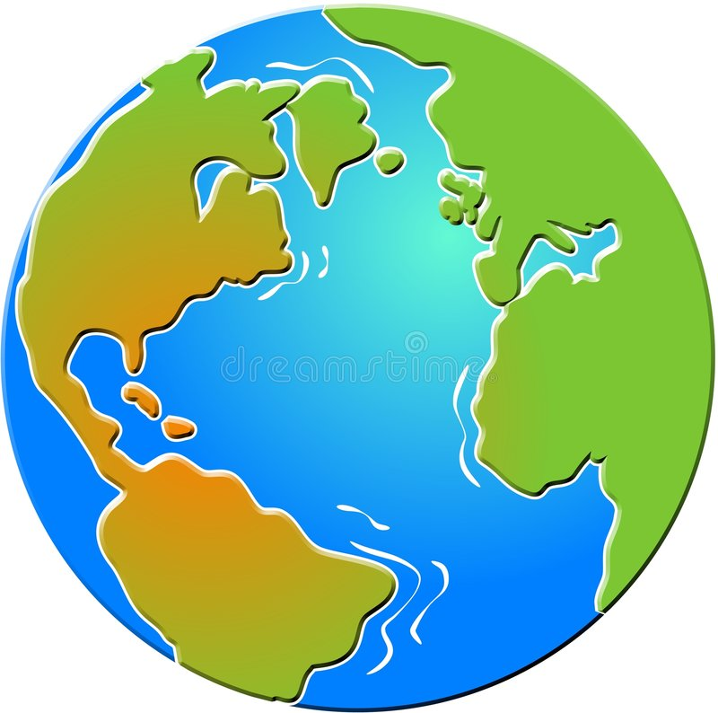 Download Bevelled Globe stock illustration. Image of globes, illustrations - 90274