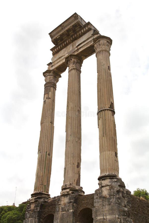 Bever en Pollux Columns royalty-vrije stock afbeeldingen