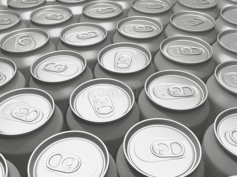 Download Beverage cans in a row stock illustration. Illustration of bare - 19995893