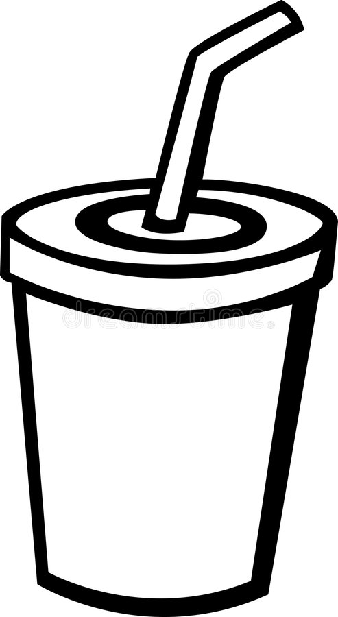 Beverage With Drinking Straw Vector Illustration Royalty Free Stock Image