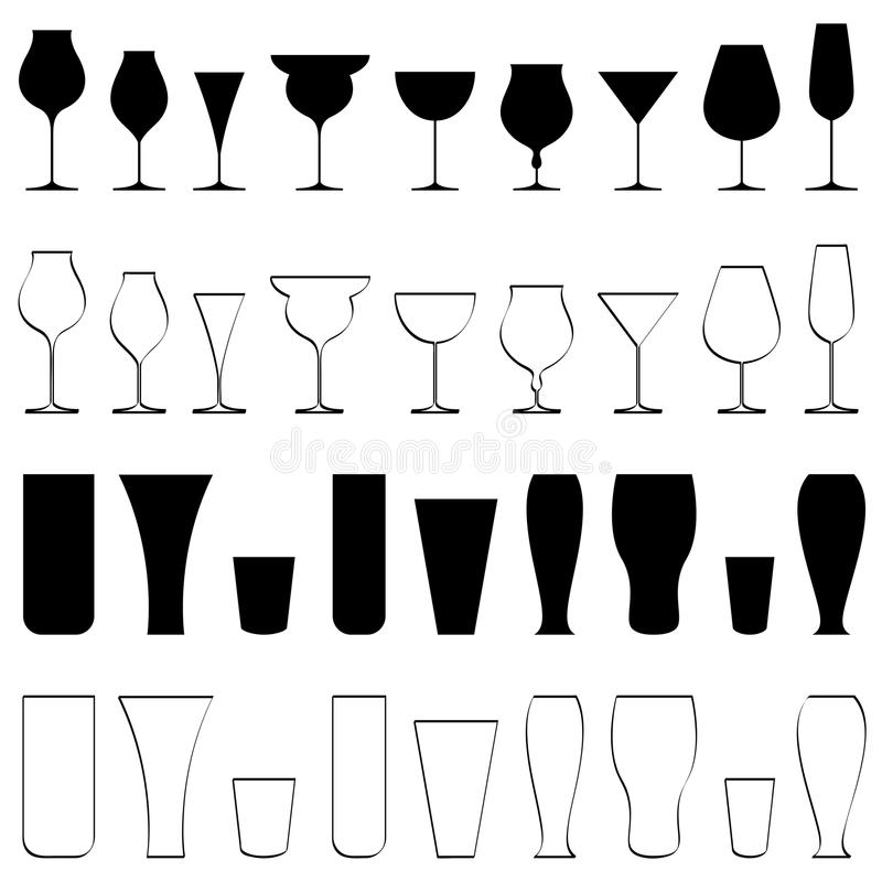 Download Beverage Glasse stock vector. Image of breakfast, coffee - 18905920