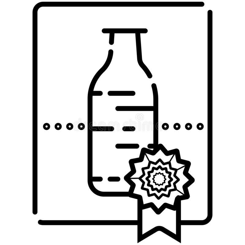 Beverage production linear icon vector illustration