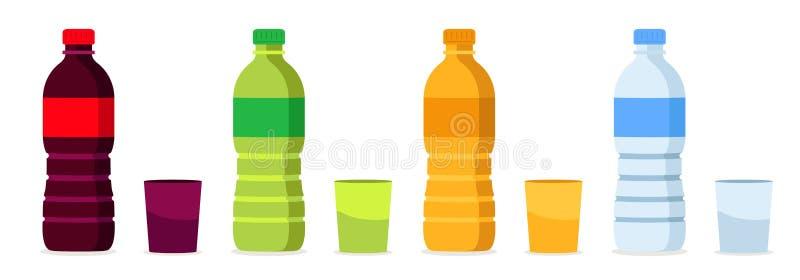 Beverages bottles royalty free illustration