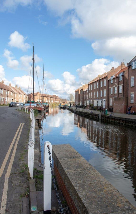 Beverley, Inglaterra - março, 31, 2019: renovação e reabilitação urbana sensíveis e atrativas de uma área degradado da cidade imagens de stock royalty free