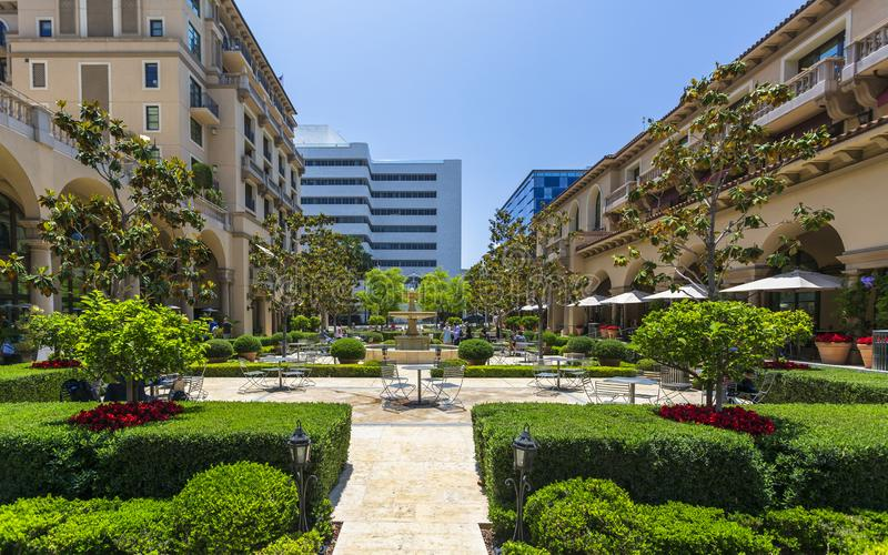 Beverly Canon Gardens, Beverly Hills, Los Angeles, California, United States of America, North America. Beverly Hills, USA - May 28 2018: Beverly Canon Gardens royalty free stock images