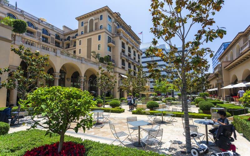 Beverly Canon Gardens Beverly Hills, Los Angeles, Kalifornien, Amerikas förenta stater, Nordamerika royaltyfri bild