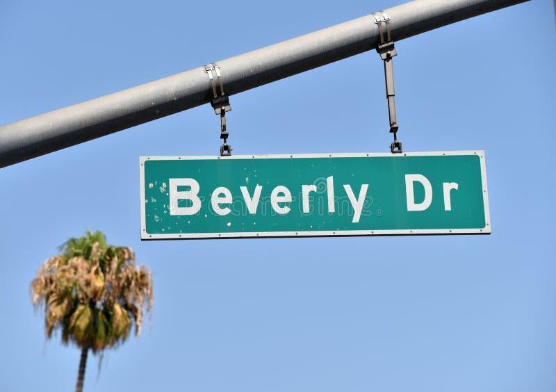 Beverly Drive Sign royaltyfri fotografi