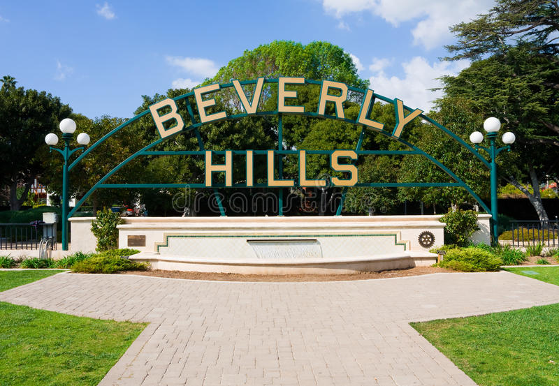 Download Beverly Hills stock photo. Image of gardens, pavement - 14286830