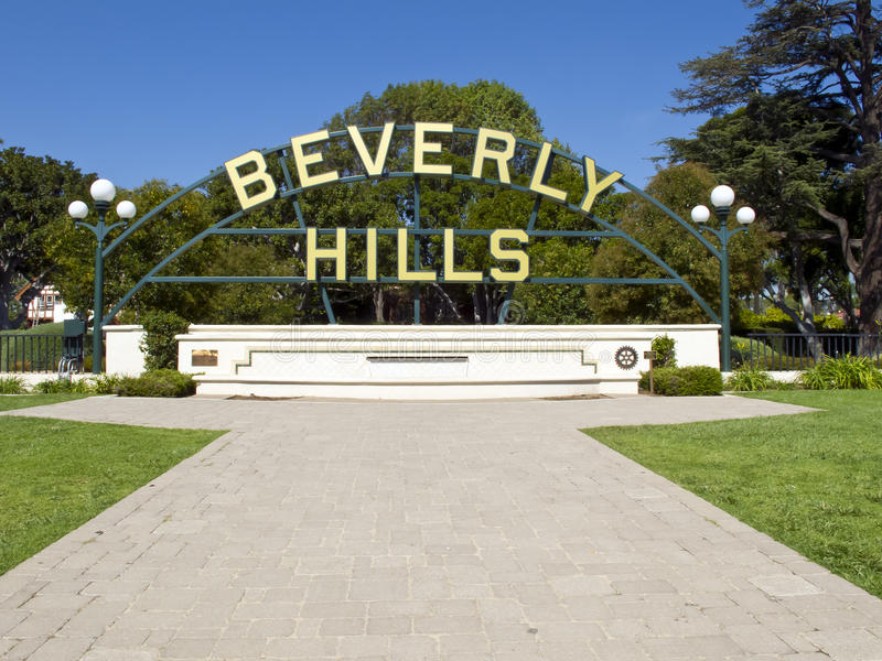 Beverly Hills royaltyfria foton