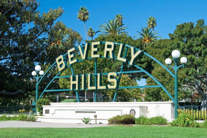 Beverly Hills assina dentro o parque de Los Angeles imagem de stock