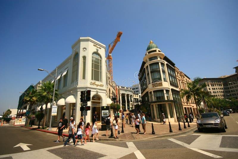 BEVERLY HILLS, CA - 11 août : Rodeo Drive en Beverly Hills sur A images stock