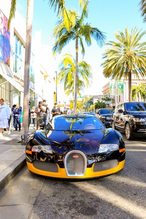 BEVERLY HILLS CA - JUNI 10, 2017: Egen Bugatti för Bijan ` s royaltyfri foto