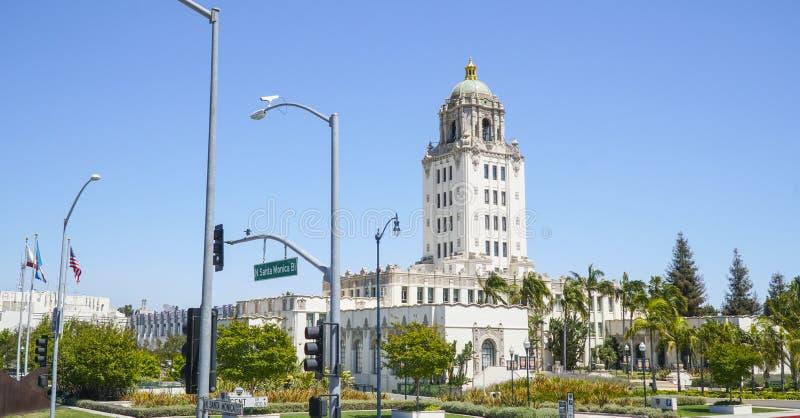 Beverly Hills City Hall - LOS ANGELES - KALIFORNIEN - APRIL 20, 2017 royaltyfria bilder