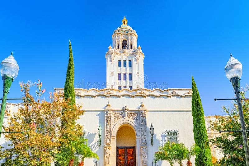 Beverly Hills City Hall Los Angelos, Kalifornien royaltyfri fotografi
