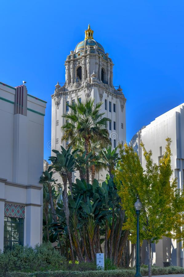 Beverly Hills City Hall - sydliga Kalifornien royaltyfria bilder