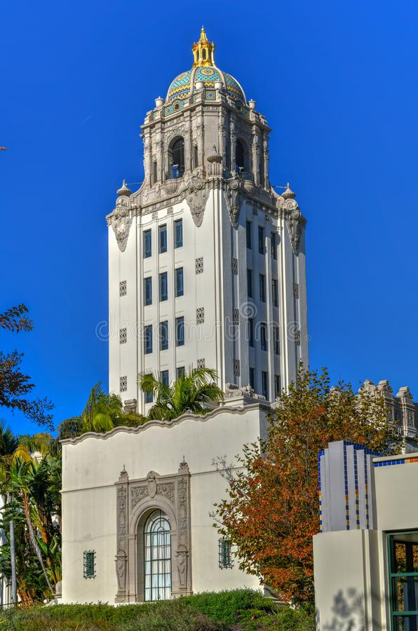 Beverly Hills City Hall - sydliga Kalifornien arkivbilder