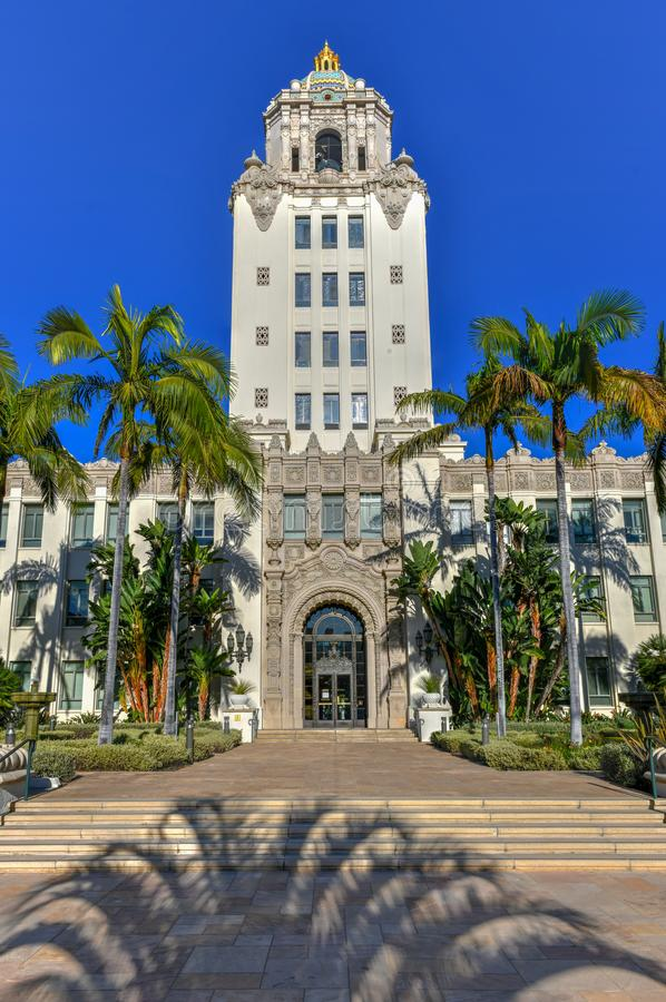 Beverly Hills City Hall - sydliga Kalifornien royaltyfri bild