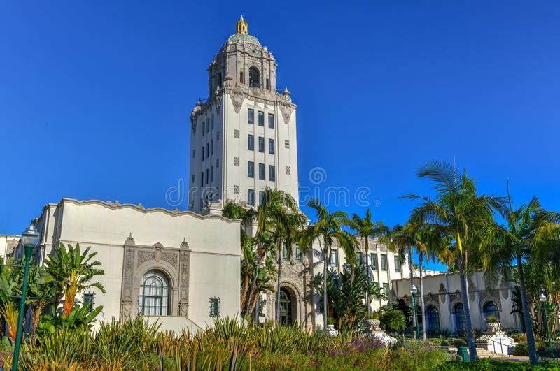 Beverly Hills City Hall - sydliga Kalifornien royaltyfri fotografi