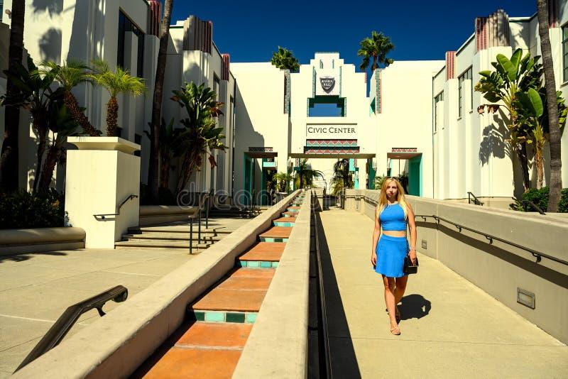 Beverly Hills Civic Center, Los Angeles, Californië royalty-vrije stock foto