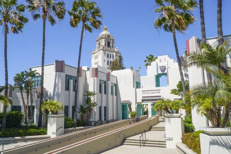 Beverly Hills Civic Center - LOS ANGELES - KALIFORNIEN - APRIL 20, 2017 fotografering för bildbyråer