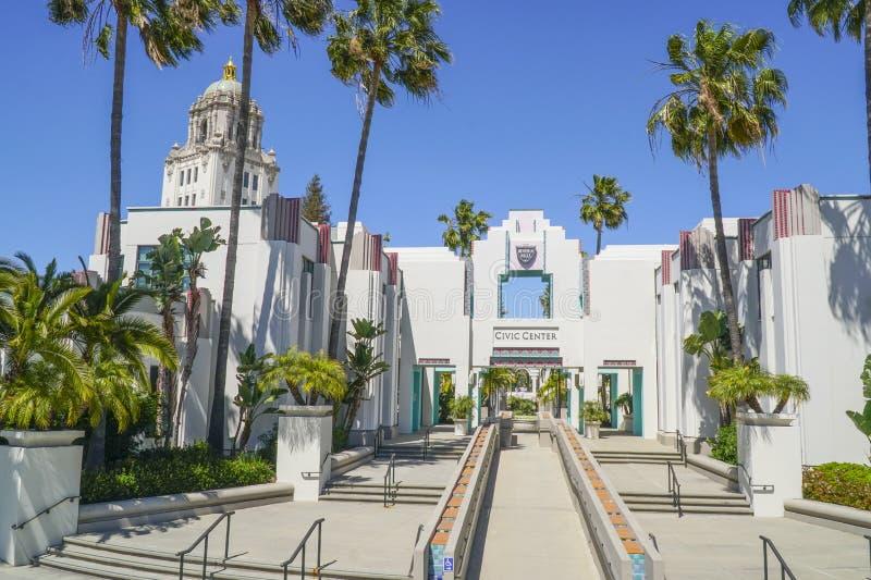 Beverly Hills Civic Center - LOS ANGELES - KALIFORNIEN - APRIL 20, 2017 royaltyfri fotografi