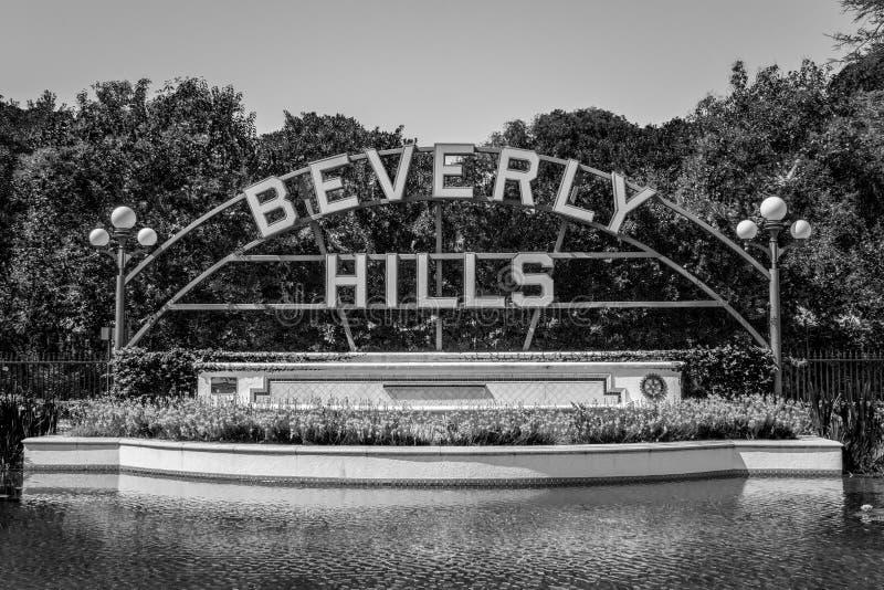 Beverly Hills Gardens Park i staden av Los Angeles royaltyfri fotografi