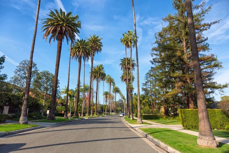 Beverly Hills gata, Los Angeles arkivfoto