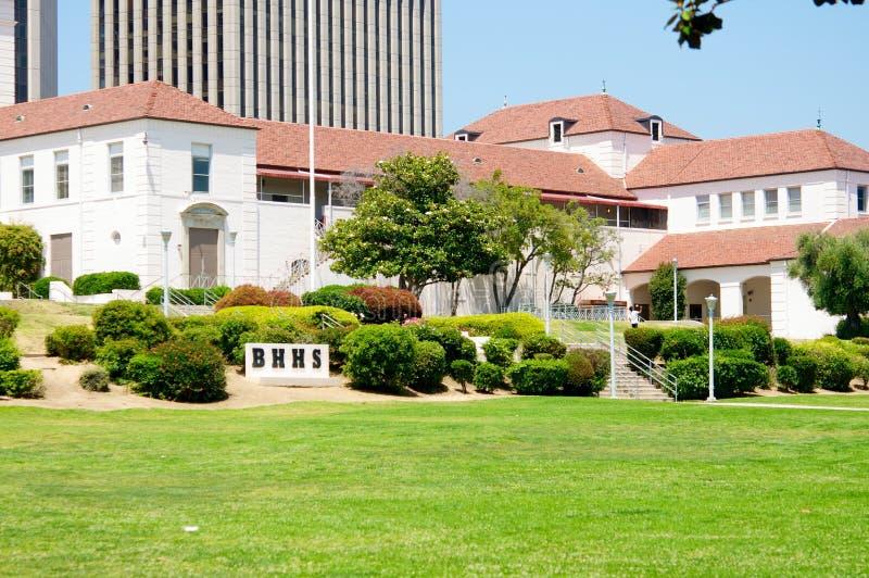 Beverly Hills High School, LA. Photo of Beverly Hills High School, LA,CA royalty free stock image