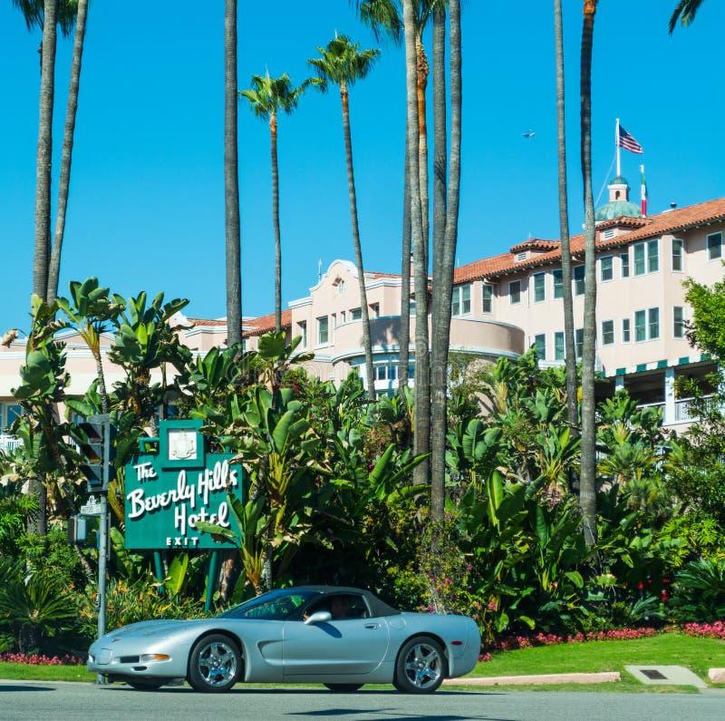 Beverly Hills Hotel en un día claro imagen de archivo