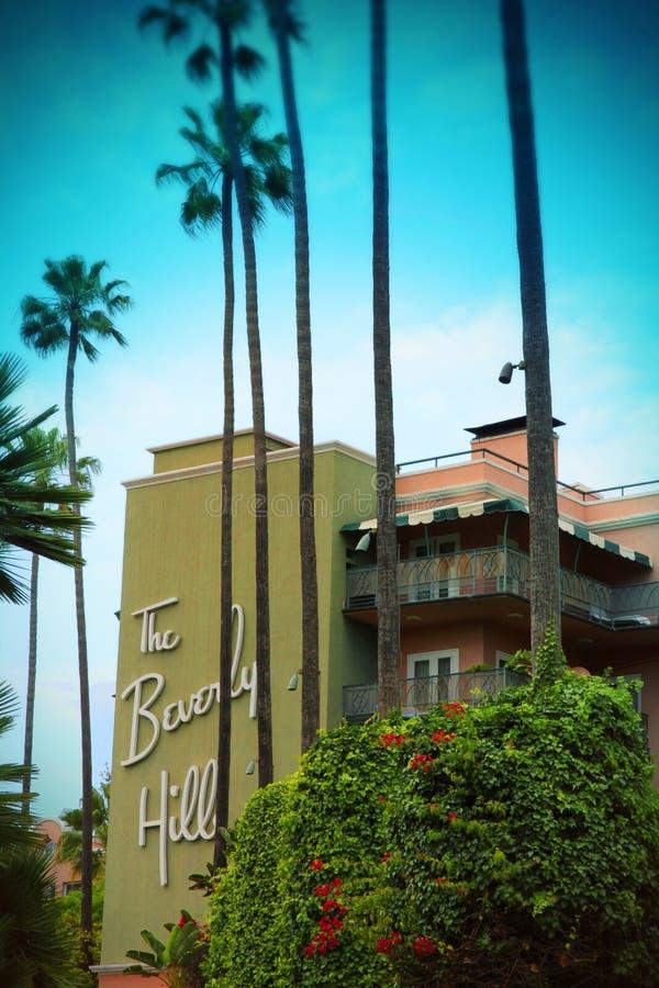 Beverly Hills Hotel, Los Angeles royaltyfria bilder