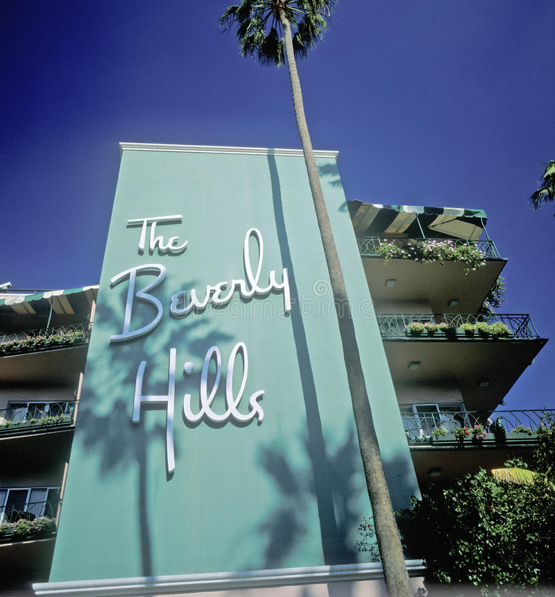 Beverly Hills Hotel, Los Angeles, California immagine stock