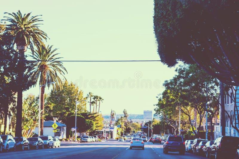 Beverly Hills i tappningsignaleffekt arkivfoto