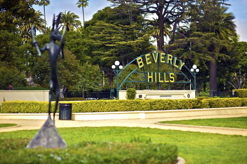 Beverly Hills Kalifornien arkivbild