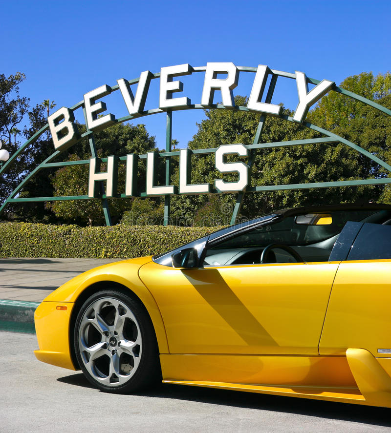 Beverly Hills, la Californie image libre de droits
