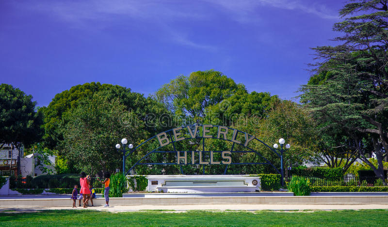 Beverly Hills Los Angeles arkivfoto