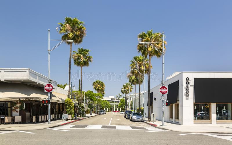 Beverly Hills, Los Angeles, California, United States of America, North America. Beverly Hills, USA - May 28 2018: Beverly Hills, Los Angeles, California, United royalty free stock photos