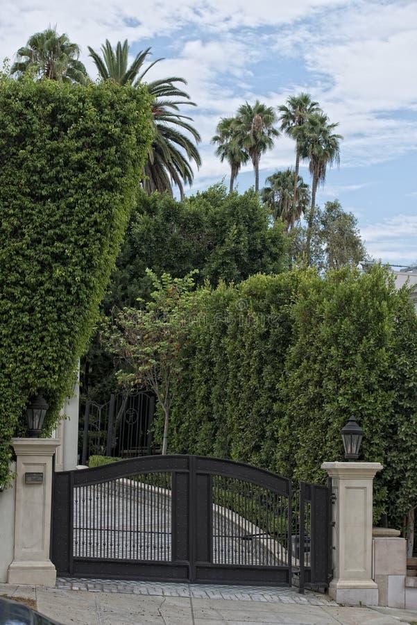 Beverly Hills Los Angeles hus arkivfoto