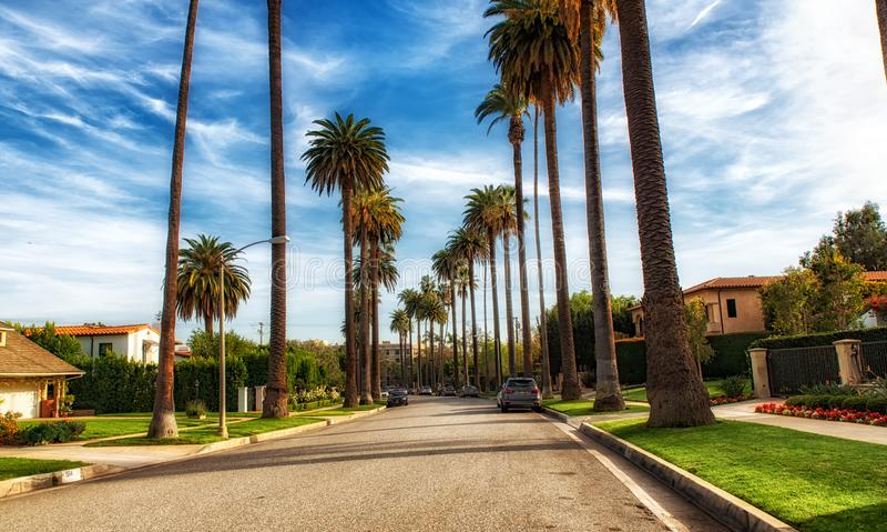 Beverly Hills Los Angeles, Kalifornien, USA royaltyfria bilder