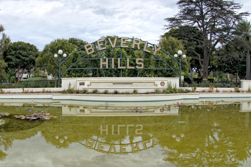Beverly Hills Los Angeles tecken royaltyfri fotografi