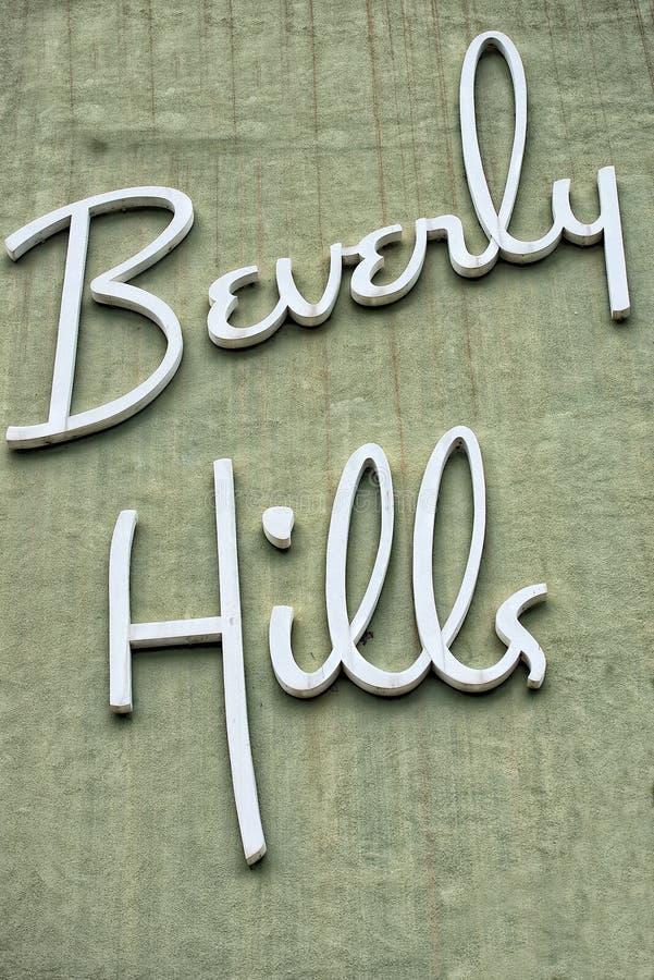 Beverly Hills Los Angeles tecken royaltyfri foto