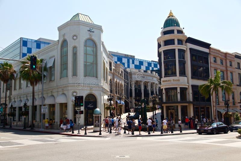 Beverly Hills na movimentação do rodeio fotografia de stock