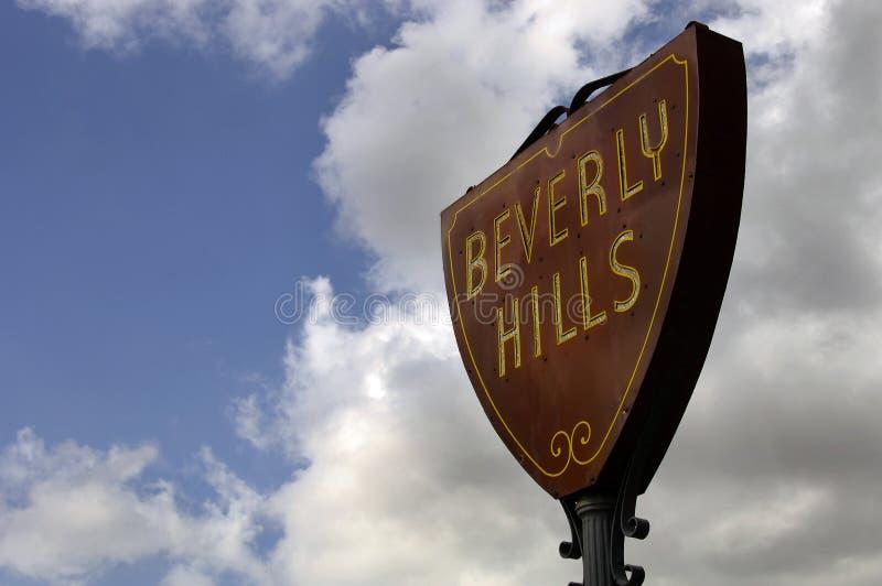 beverly hills powitać zdjęcie stock