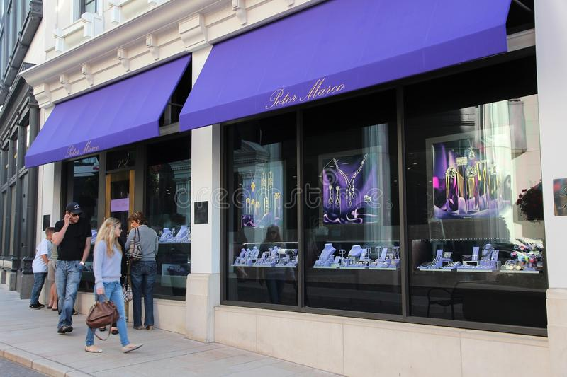 beverly hills rodeo drive obraz stock